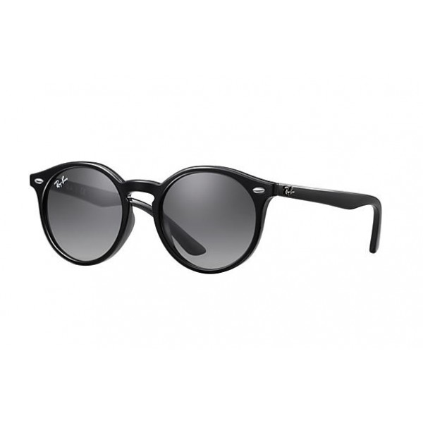 28d9615dc Fake Ray Ban RB9064S RB9537S Round Junior Sunglasses Black Frame ...